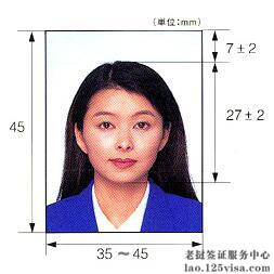 老挝签证材料照片模板